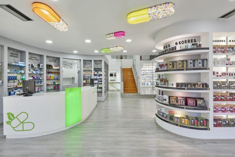店面设计 | 比雷埃夫斯Mazis Marios药店设计