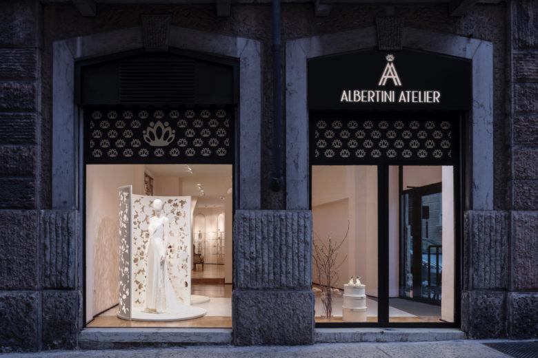 店铺设计| Atelier Albertini婚纱店面设计