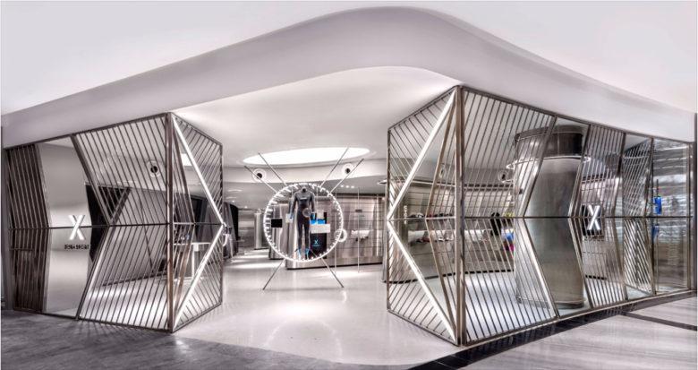 未来主义风格设计,新加坡Durasport运动服装店设计