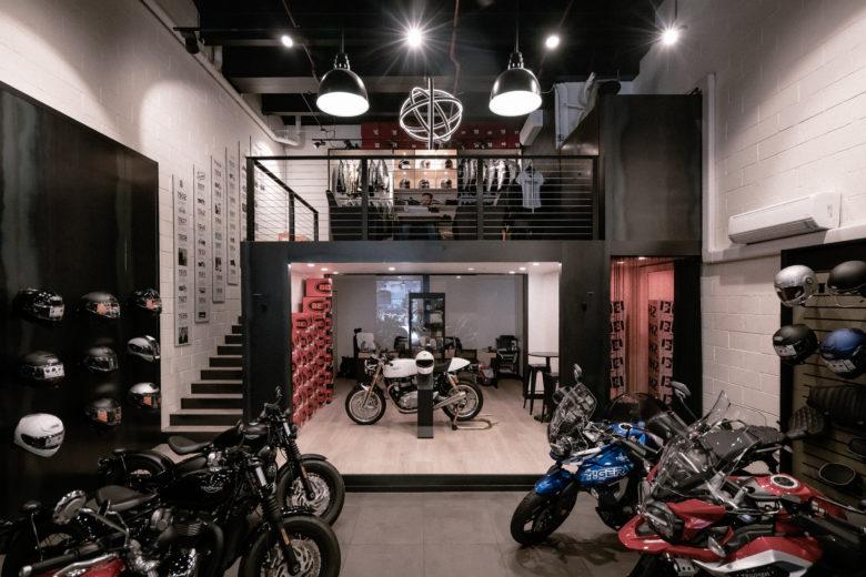 店面设计 | 美国Triumph摩托车店设计